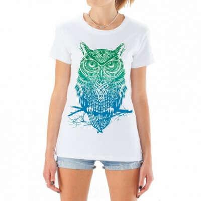 Купить белая футболка с совой для женщин в интернет-магазине - IndigoGift.ru