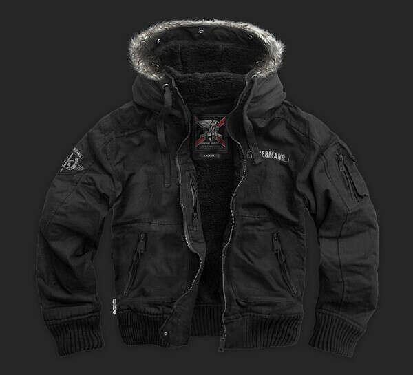 Зимняя куртка Jacket HONOUR KU18 от Dobermans Aggressive черная