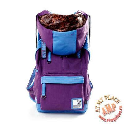 Фиолетовый рюкзак с капюшоном