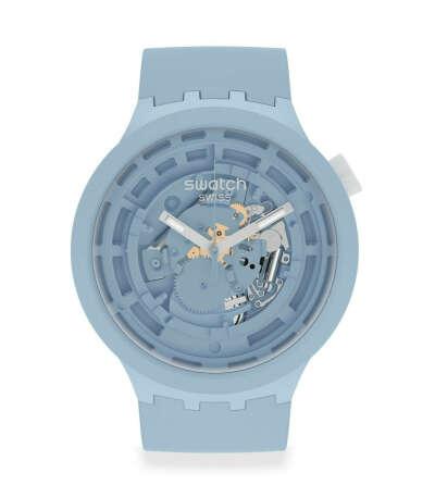 Часы Swatch голубые (из биокерамики)
