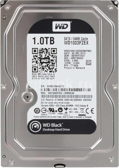 "Жесткий диск WD Black WD1003FZEX,  1Тб,  HDD,  SATA III,  3.5"""