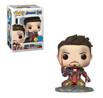 Железный человек Тони Старк металлик светящийся (Iron Man Tony Stark I Am Iron Man Metallic GitD (Эксклюзив Previews)) из фильма Мстители: Финал