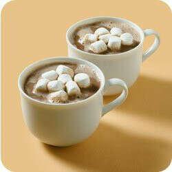 Попробовать горячий шоколад с маршмеллоу