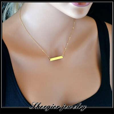 Золотая цепочка с прямоугольником
