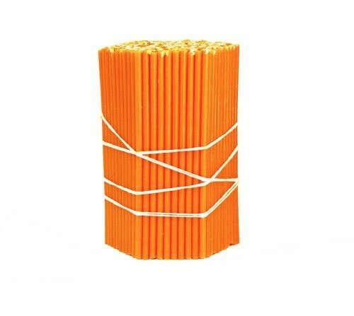 Свечи восковые оранжевые №120