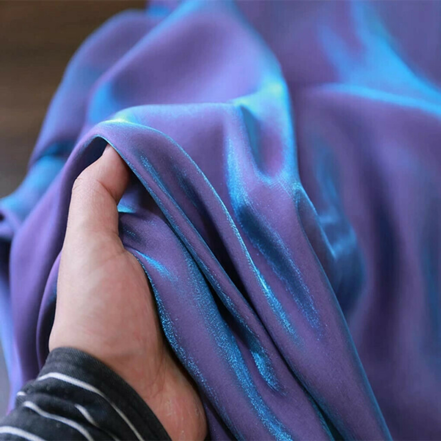 Шелковистая переливающаяся ткань 150х50 2 штуки