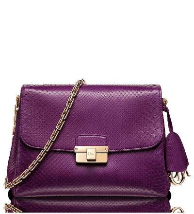 Small purple python ''Diorling'' bag