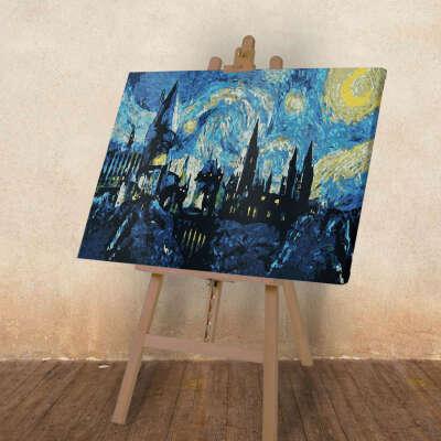 Гарри Поттер | Картина по номерам Хоггвартс Ван Гог 40*60 см