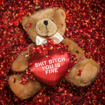 Медведь-валентинка