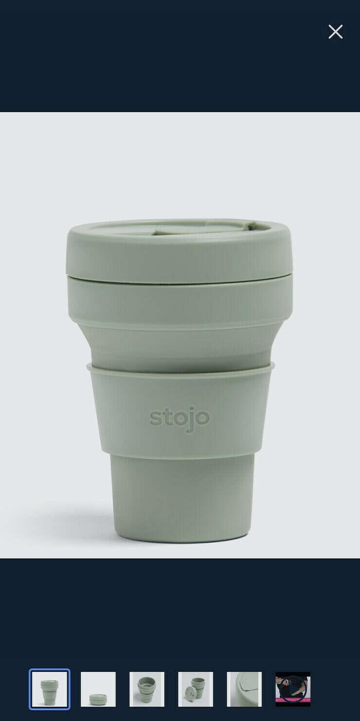 Складной стакан STOJO 355 мл, цвет Sage