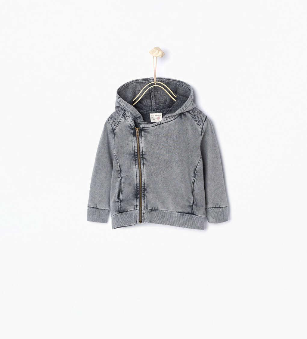 Куртка в байкерском стиле с капюшоном Кoд 3522/565