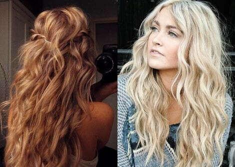 Нарастить светлые вьющиеся волосы 60 см