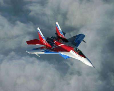 Полет на МИГ-29 в стратосферу с имитацией суборбитального старта и фигурами высшего пилотажа после снижения