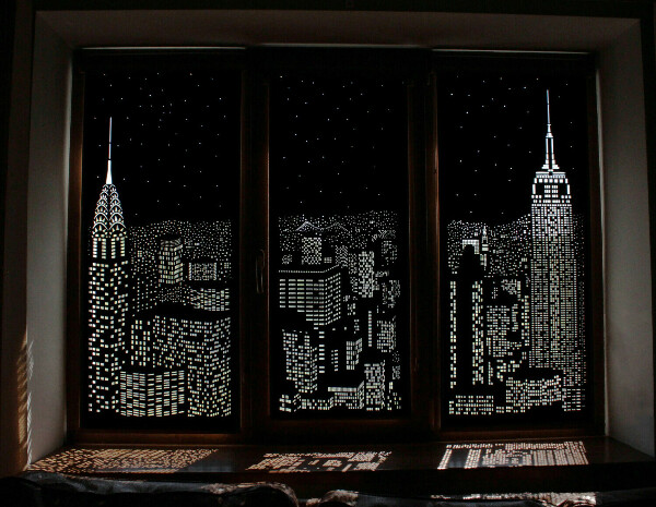 Рулонные шторы PERFOROLLO Ночной город