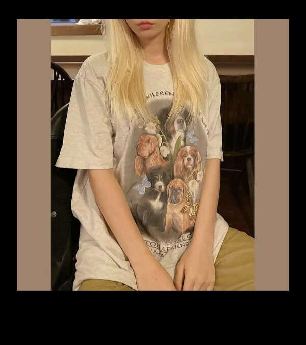 футболка с собаками