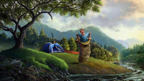 Провести ночь в палатке