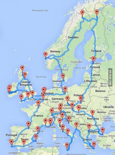 Исколесить Европу на велосипеде!