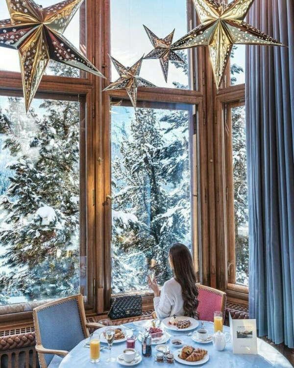 встречаю Новый Год с любимым в атмосферном домике с видом на горы или лес