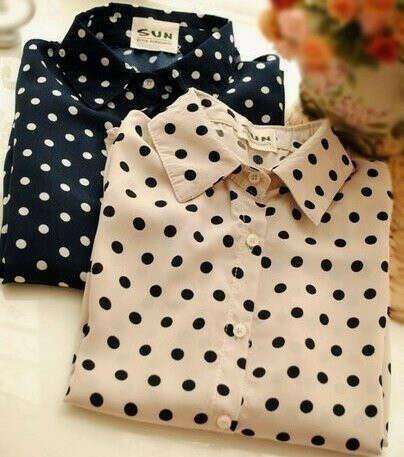Рубашку в горошек