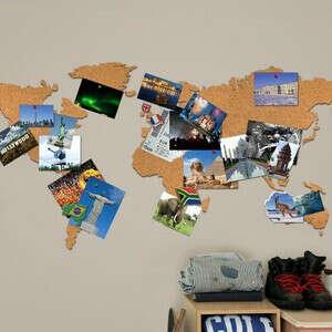 Пробковая карта-органайзер «Властелин мира»