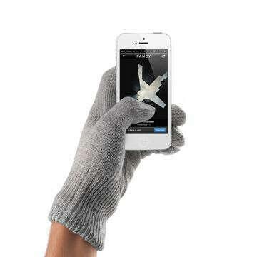 Перчатки для смартфона Touchscreen Natural серые S/M