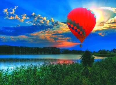 Полететь на воздушном шаре