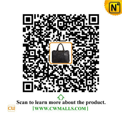 CWMALLS® Denver Croc-Embossed Leather Briefcase CW907127