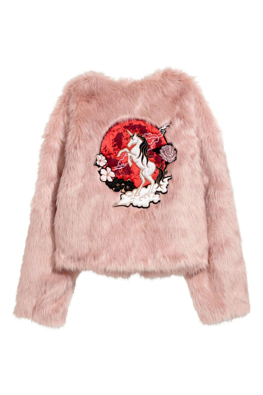 Розовая шуба NICKI MINAJ x H&M