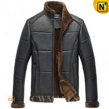 CWMALLS® Mens Designer Sheepskin Jacket CW858310