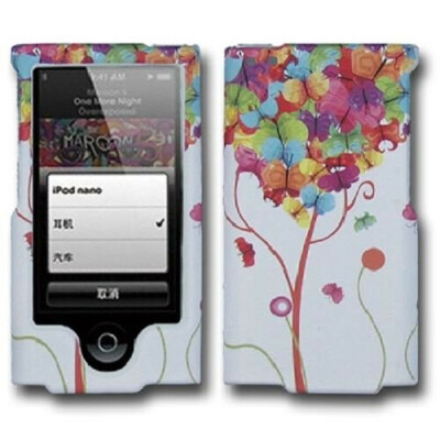SOGA(TM) Colorful Love Butterfly Heart Blue Yellow Red Pink Rubberized Hard Cover Protector Case for iPod Nano 7 7th Generation [SWE626]