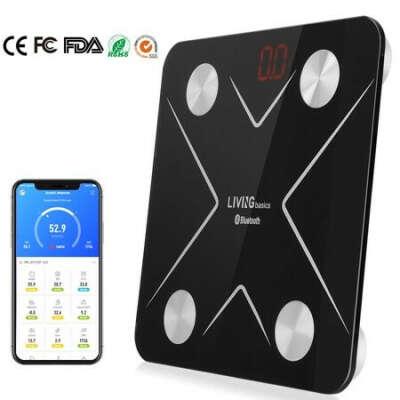 Body Fat Scale Smart Weighing Digital Bath Scale, Wireless BMI Step-on Bluetooth, 180kg/396lb | Walmart Canada