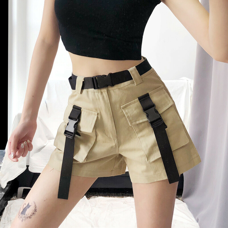 Tooling shorts high waist loose wide leg hot pants