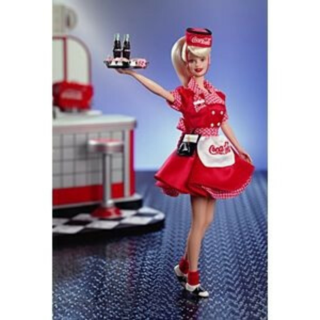 Coca-Cola Barbie Doll - Waitress | 22831 | Barbie Signature