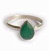 Кольцо с зеленым корундом. Кольца с драгоценными камнями