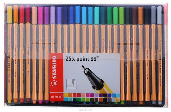 Stabilo Набор капиллярных ручек Point88 25 цветов