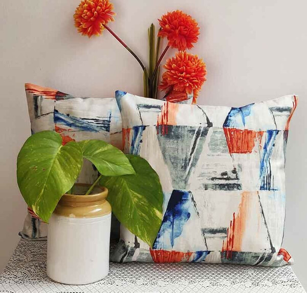 Ice Popsicle Cotton Cushion Cover – Set of 2