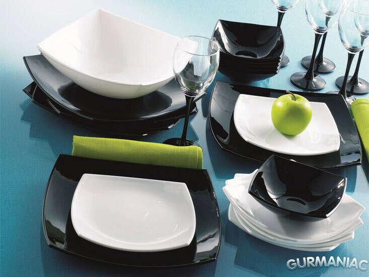 Квадратные стеклянные тарелки