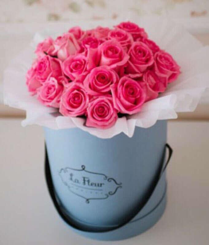 Букет роз в коробке!