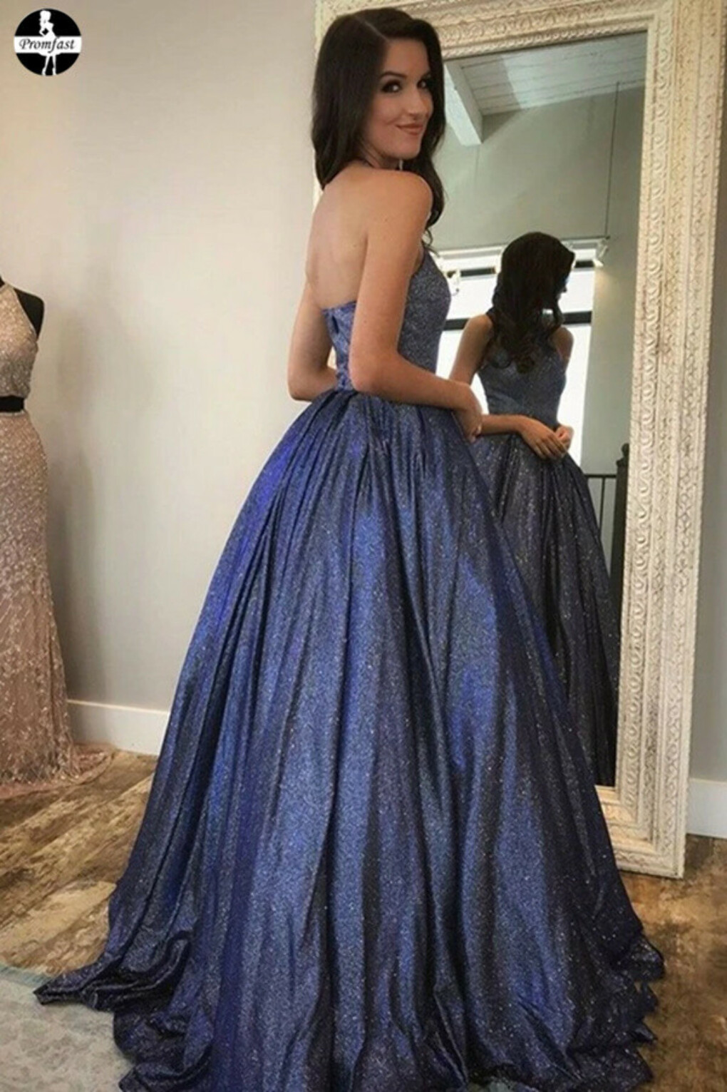 Promfast Newest Halter Zipper Back Long Prom Dresses Cute Party Gowns PFP1980