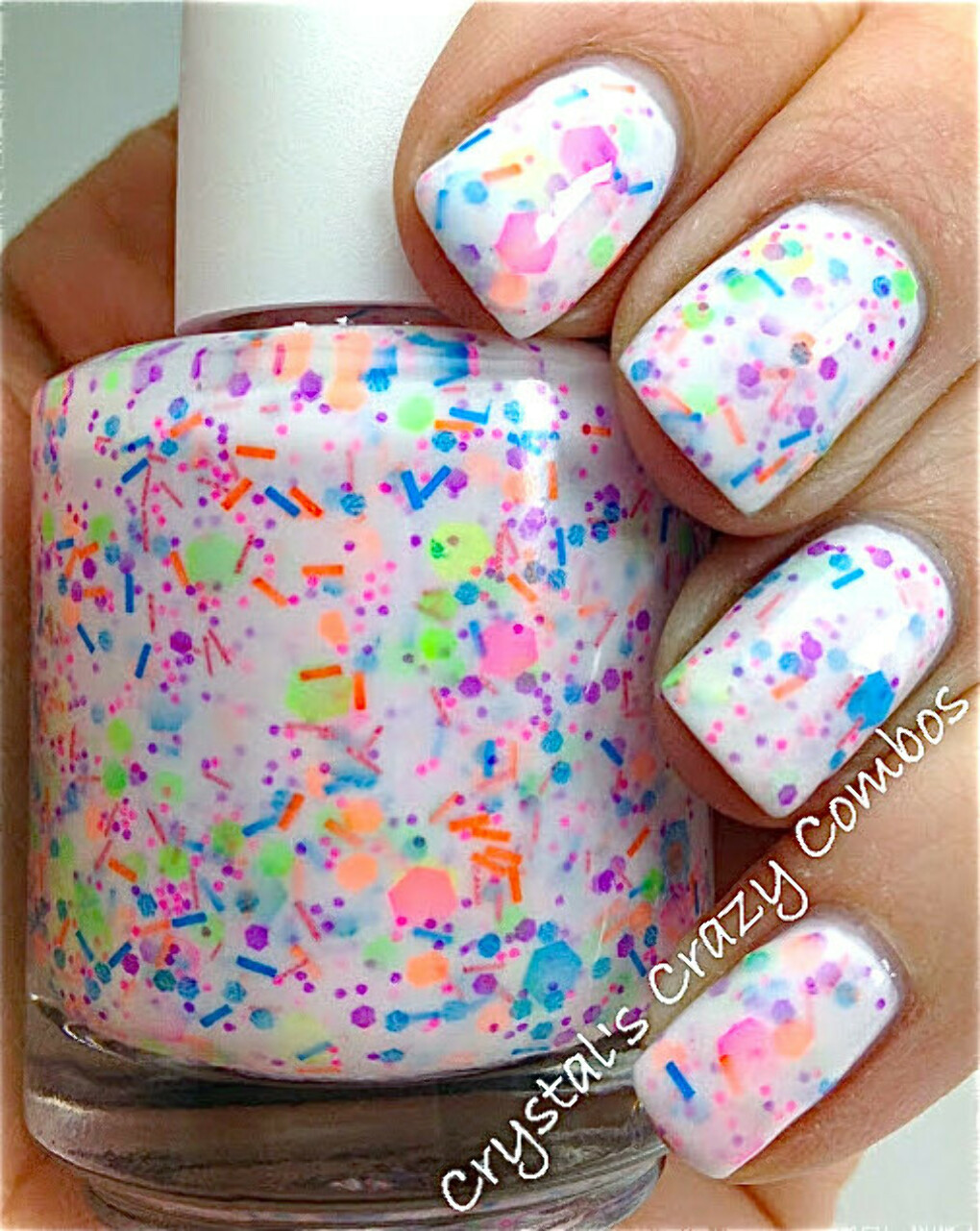 Haywire: Custom-Blended NEON Glitter Nail Polish / Lacquer