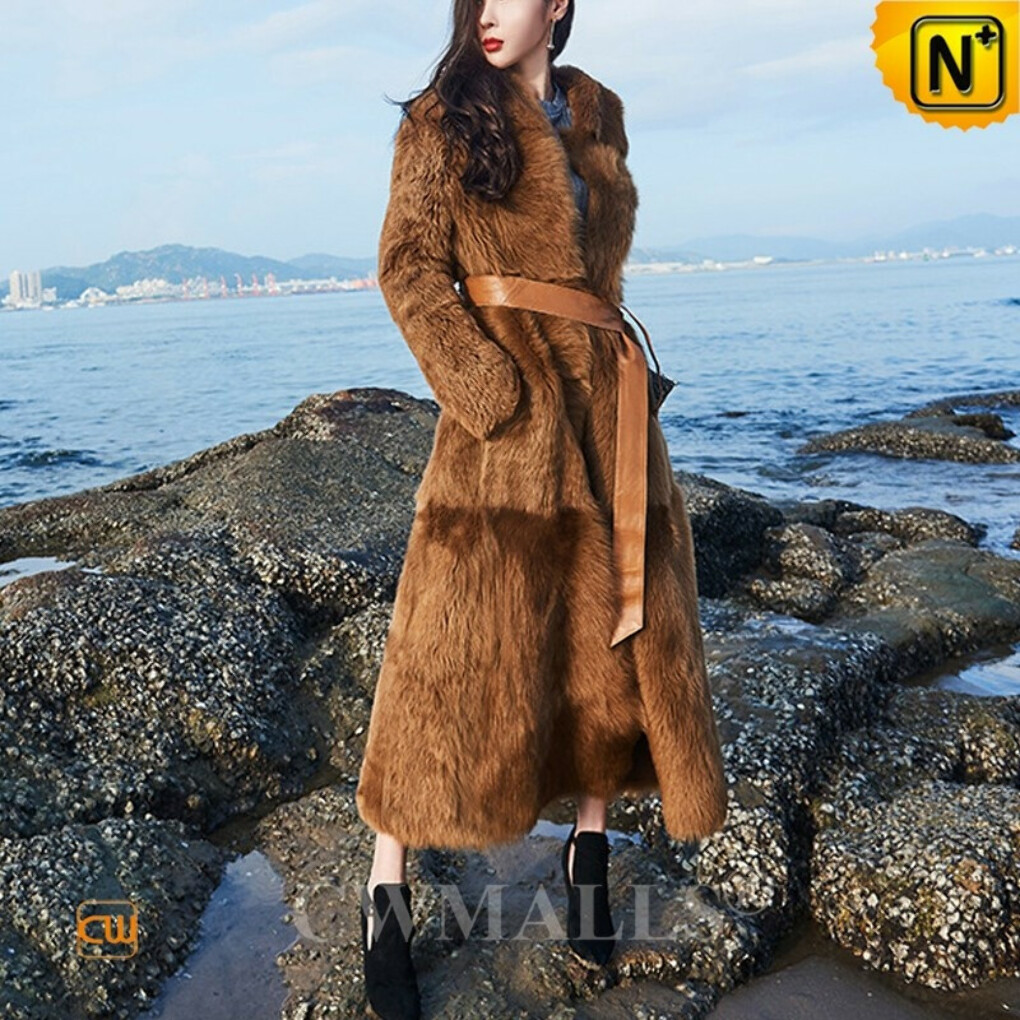 Women Sheepskin Coat | Chicago Reversible Toscana Shearling Coat CW618018 | CWMALLS.COM