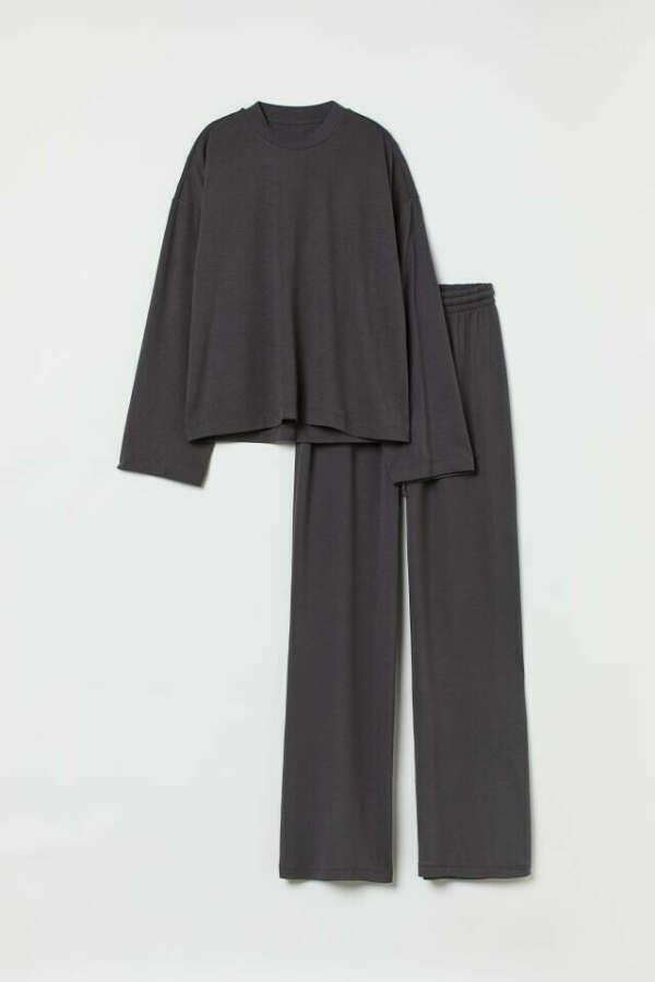 Пижама, темно-серый, размер XS
