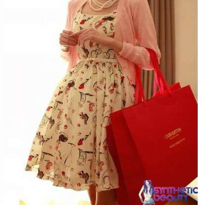Ретро-платье с пышной юбкой