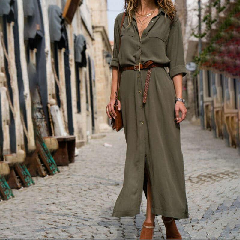 Длинное платье-рубашка (Aliexpress)