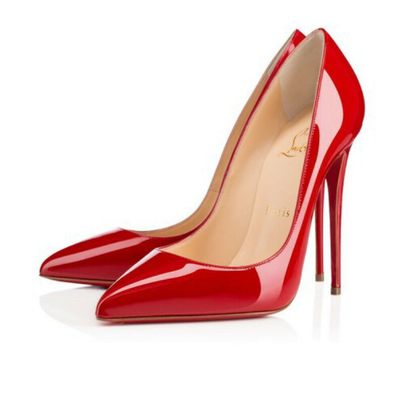 Остроносые красные туфли