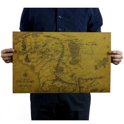 Карта Средиземья 50х30