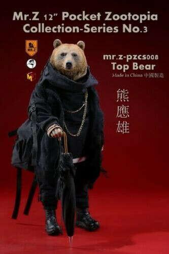 "Mr.Z 12""Pocket Zootopia Collection-Series No.3 Mr.Z PZCS008 Top Bear Figure"