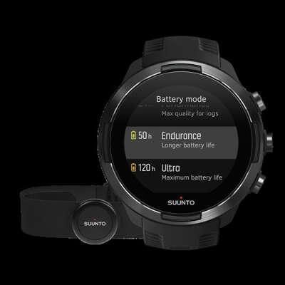 Suunto 9 Baro Black – GPS-urheilukello, jonka akku kestää pitkään