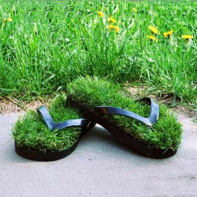 Травотапки — шлепанцы с травой
