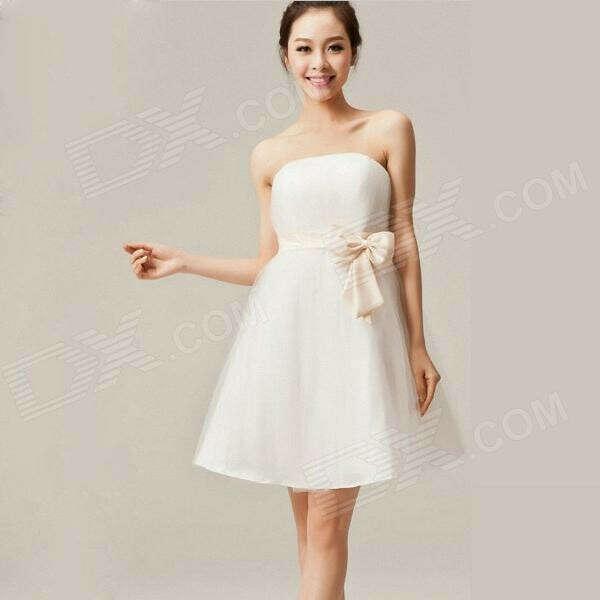Романтичное платье с атласным бантом